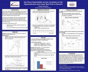 Hip Flexor Extensibility and Its Correlation to Hip