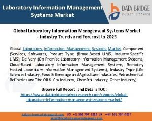 Laboratory Information Management Systems Market Global Laboratory Information