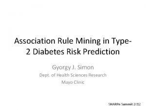Association Rule Mining in Type 2 Diabetes Risk