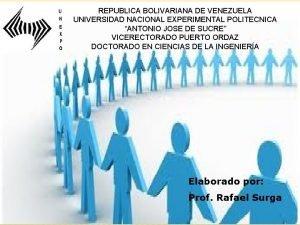 REPUBLICA BOLIVARIANA DE VENEZUELA UNIVERSIDAD NACIONAL EXPERIMENTAL POLITECNICA