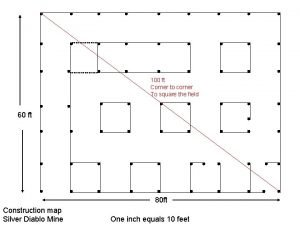 100 ft Corner to corner To square the