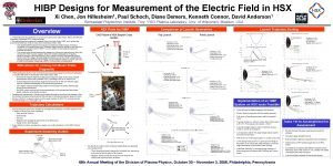 HIBP Designs for Measurement of the Electric Field