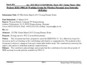 March 2015 doc IEEE 802 15 15 0239