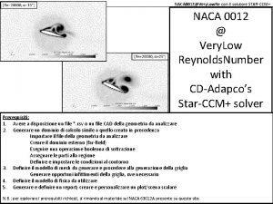 NACA 0012Very Low Re con il solutore STARCCM