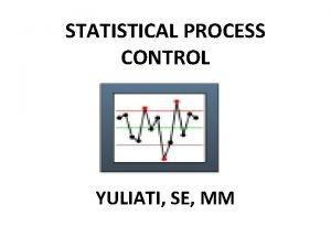 STATISTICAL PROCESS CONTROL YULIATI SE MM Sejarah Statistical