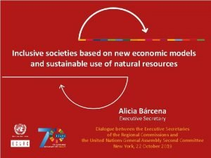 Inclusive societies based on new economic models and