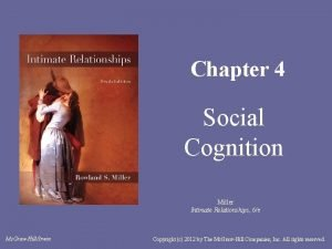 Chapter 4 Social Cognition Miller Intimate Relationships 6e