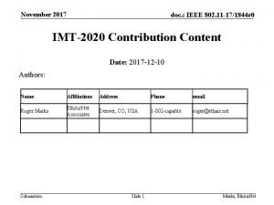 November 2017 doc IEEE 802 11 171844 r