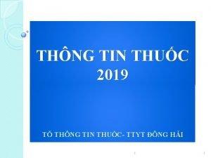 THNG TIN THUC 2019 T THNG TIN THUC