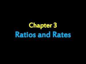 Chapter 3 Ratios and Rates Day 1 Ratios