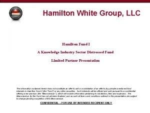 Hamilton White Group LLC Hamilton Fund I A