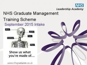 NHS Graduate Management Training Scheme September 2015 Intake