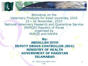 Workshop on the Veterinary Products for Asian countries