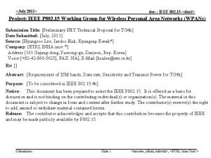 July 2011 doc IEEE 802 15 doc Project