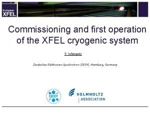 Commissioning and first operation of the XFEL cryogenic