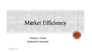 Thomas J Powell Northcentral University Powell TBUS 7013