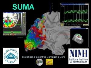SUMA Statistical Scientific Computing Core 1 29 Oct