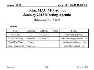 January 2018 doc IEEE 802 11 180204 r
