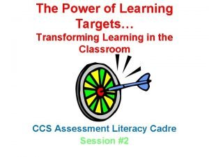 The Power of Learning Targets Transforming Learning in