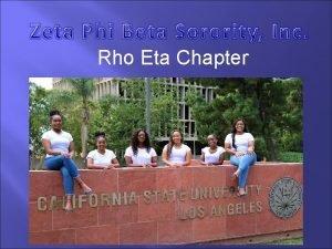 Rho Eta Chapter v Zeta Phi Beta Sorority