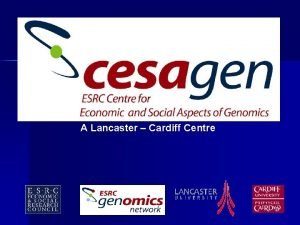A Lancaster Cardiff Centre Plant Genomics Commercialisation and