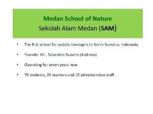 Medan School of Nature Sekolah Alam Medan SAM
