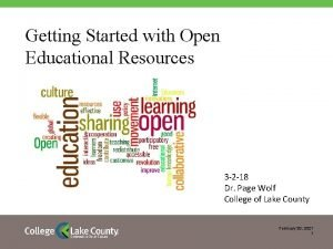 Getting Started with Open Educational Resources 3 2