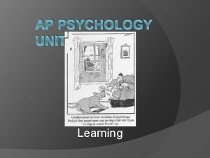 AP PSYCHOLOGY UNIT 6 Learning Learning Definition Learning