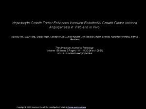 Hepatocyte Growth Factor Enhances Vascular Endothelial Growth FactorInduced