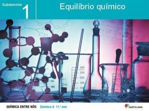 1 Subdomnio Unidade Equilbrio qumico 1 1 Aspetos