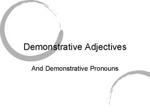 Demonstrative Adjectives And Demonstrative Pronouns seores japoneses A