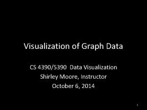 Visualization of Graph Data CS 43905390 Data Visualization
