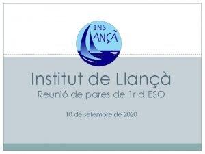 Institut de Llan Reuni de pares de 1