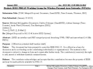 January 2010 doc IEEE 802 15 09 0804