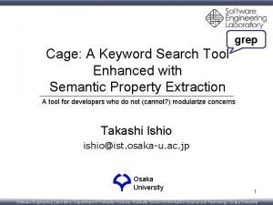 grep Cage A Keyword Search Tool Enhanced with
