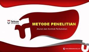 METODE PENELITIAN Aturan dan Kontrak Perkuliahan Biodata Dosen