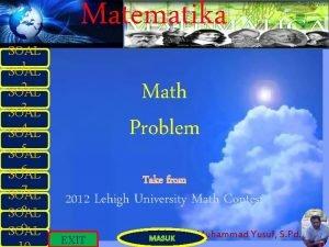 SOAL 1 SOAL Matematika Math Problem 2 SOAL