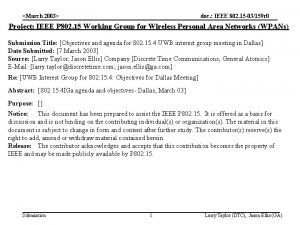 March 2003 doc IEEE 802 15 03159 r