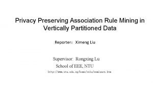 Privacy Preserving Association Rule Mining in Vertically Partitioned
