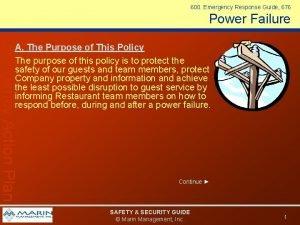 600 Emergency Response Guide 676 Power Failure Emergency