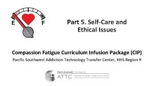 Part 5 SelfCare and Ethical Issues Compassion Fatigue