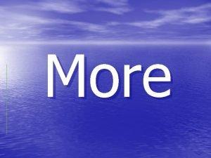 More Od ega je more More ine vodene
