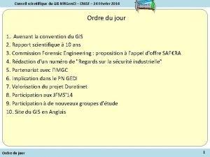 Conseil scientifique du GIS MRGen Ci CNISF 24