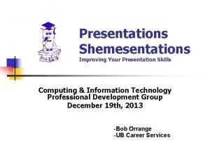 Presentations Shemesentations Improving Your Presentation Skills Computing Information