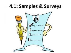 4 1 Samples Surveys Section 4 1 Samples