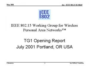 May 2001 doc IEEE 802 15 01286 r