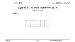 October 2020 doc IEEE 802 11 201679 r
