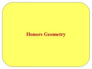Honors Geometry Chapter 12 Extending Surface Area and
