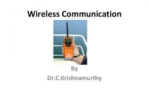 Wireless Communication By Dr C Krishnamurthy Wireless communication
