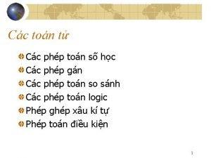Cc ton t Cc php ton s hc